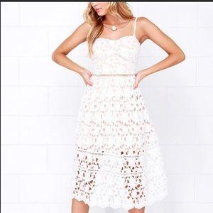 White Lace Lulu's Dress